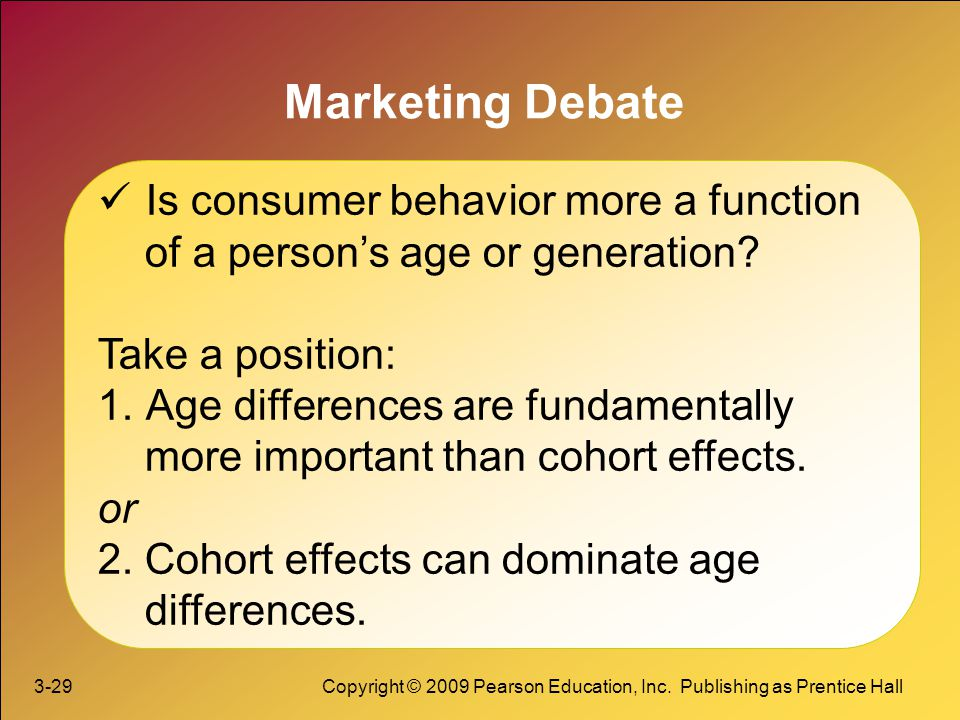 Marketing Debate Is consumer behavior more a function