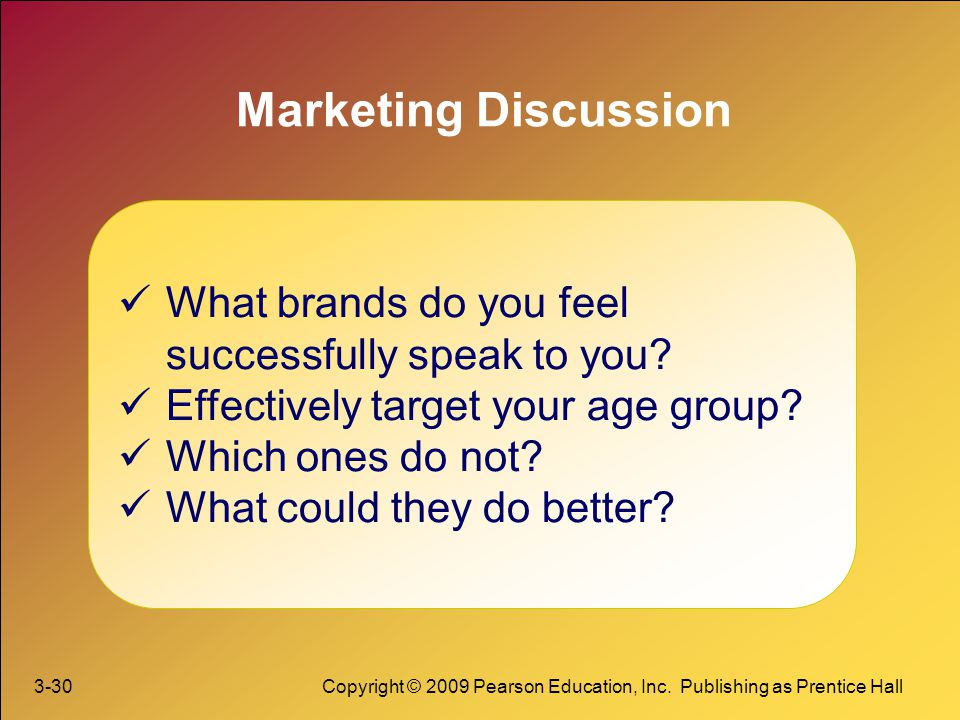 Marketing Discussion What brands do you feel