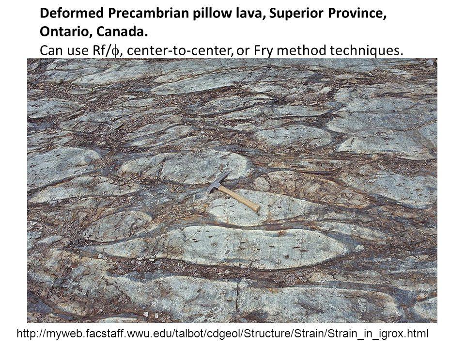 Deformed Precambrian pillow lava, Superior Province, Ontario, Canada