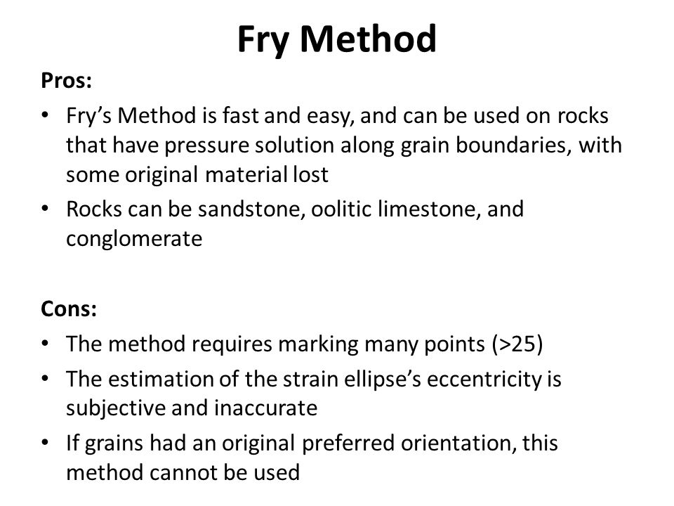 Fry Method Pros: