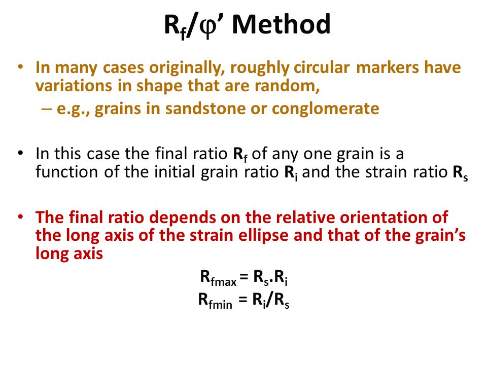 Rf/' Method In many cases originally, roughly circular markers have variations in shape that are random,