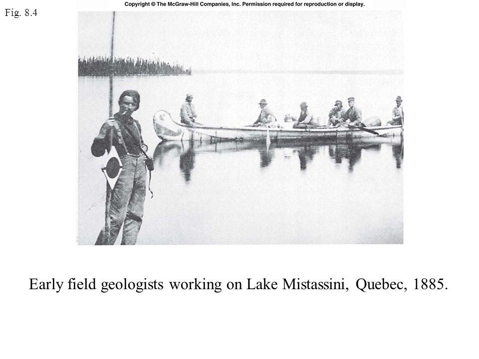 Early field geologists working on Lake Mistassini, Quebec, 1885.