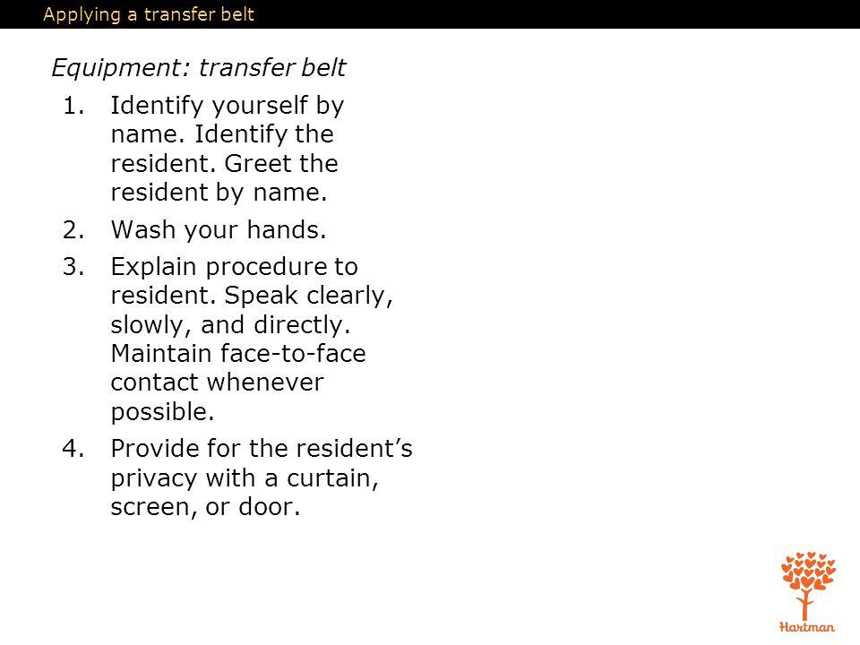 Applying a transfer belt