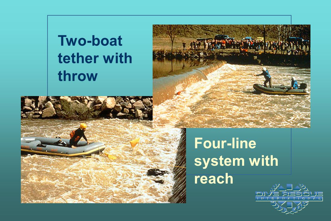 Two-boat tether with throw