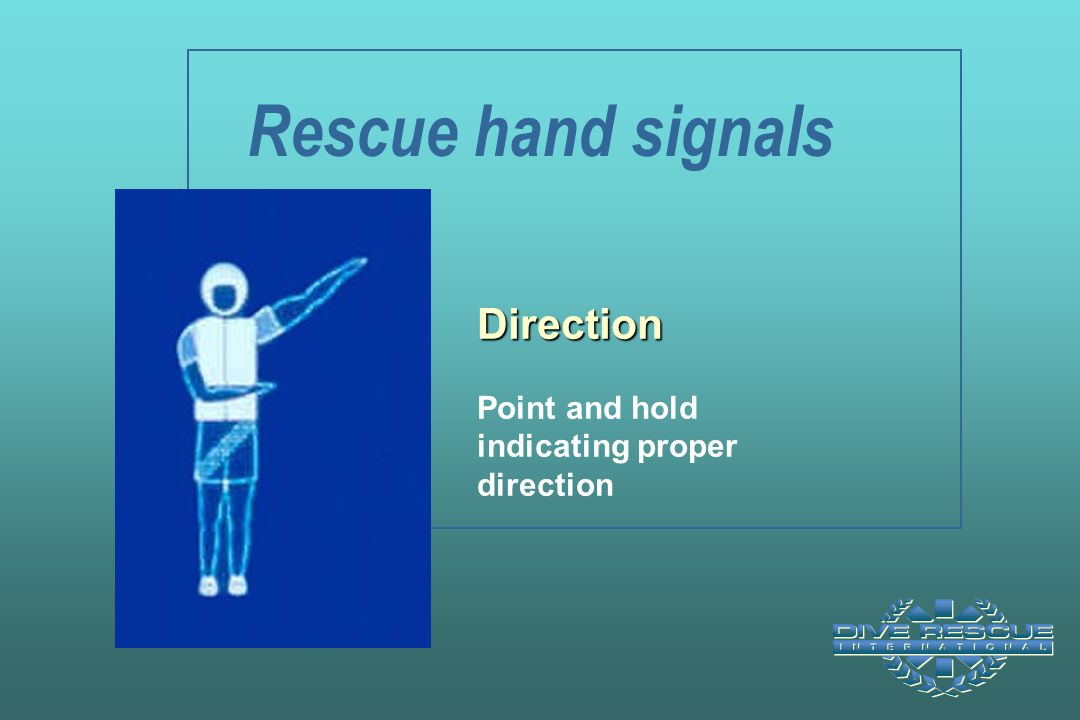 Rescue hand signals Direction