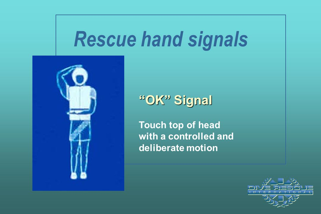 Rescue hand signals OK Signal Touch top of head