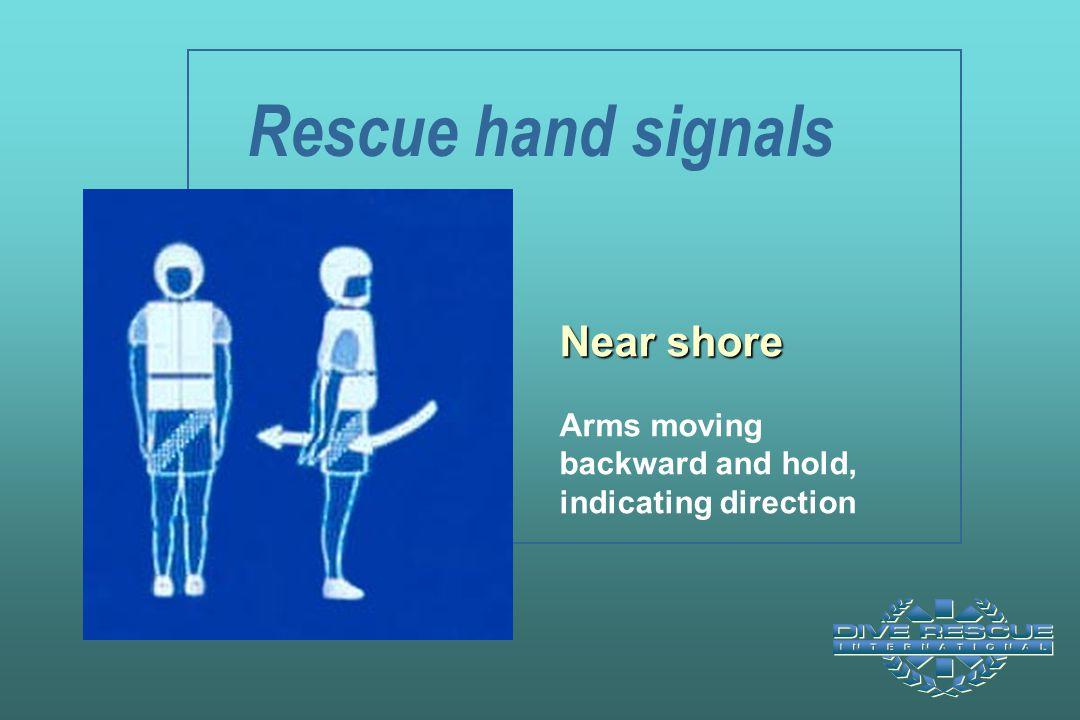 Rescue hand signals Near shore