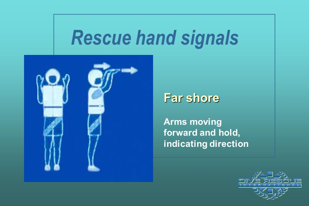 Rescue hand signals Far shore