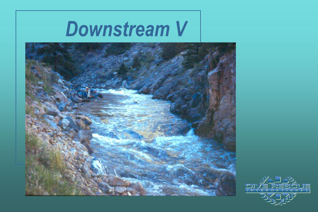 Downstream V Note the prominent Downstream V leading into standing waves below the chute in center of photograph.
