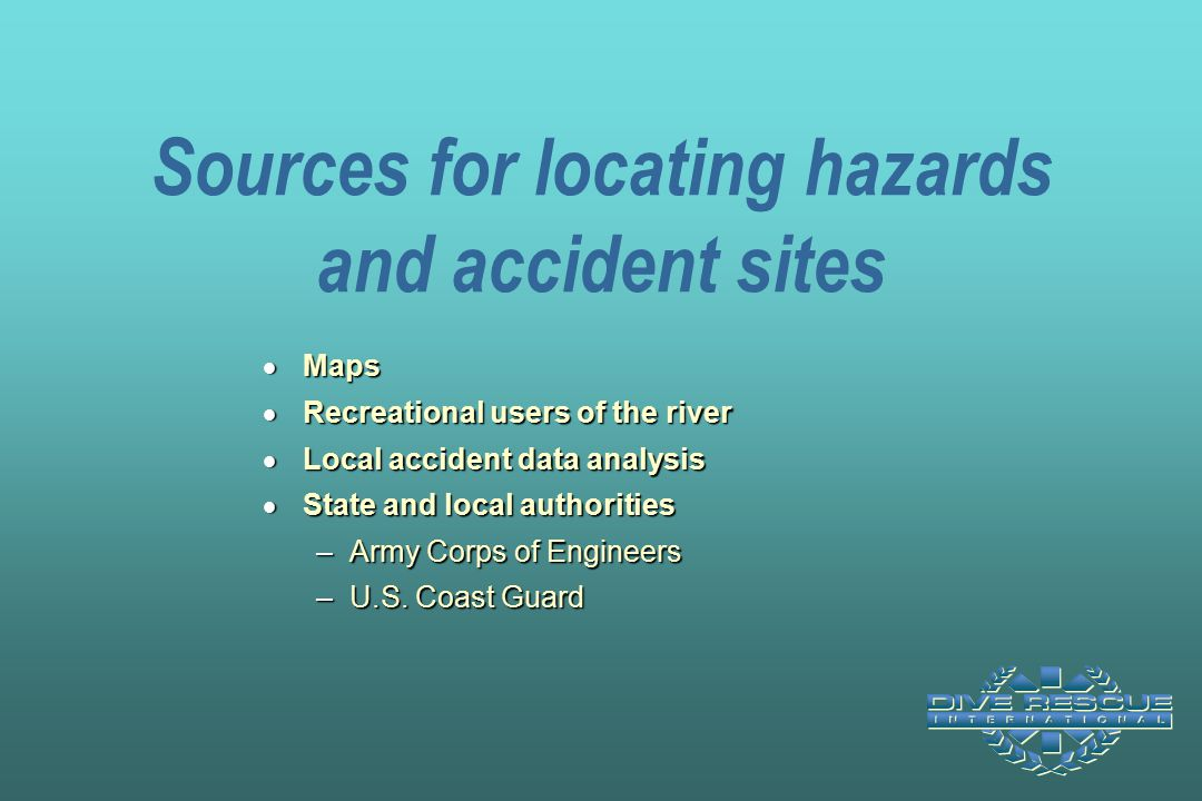 Sources for locating hazards and accident sites