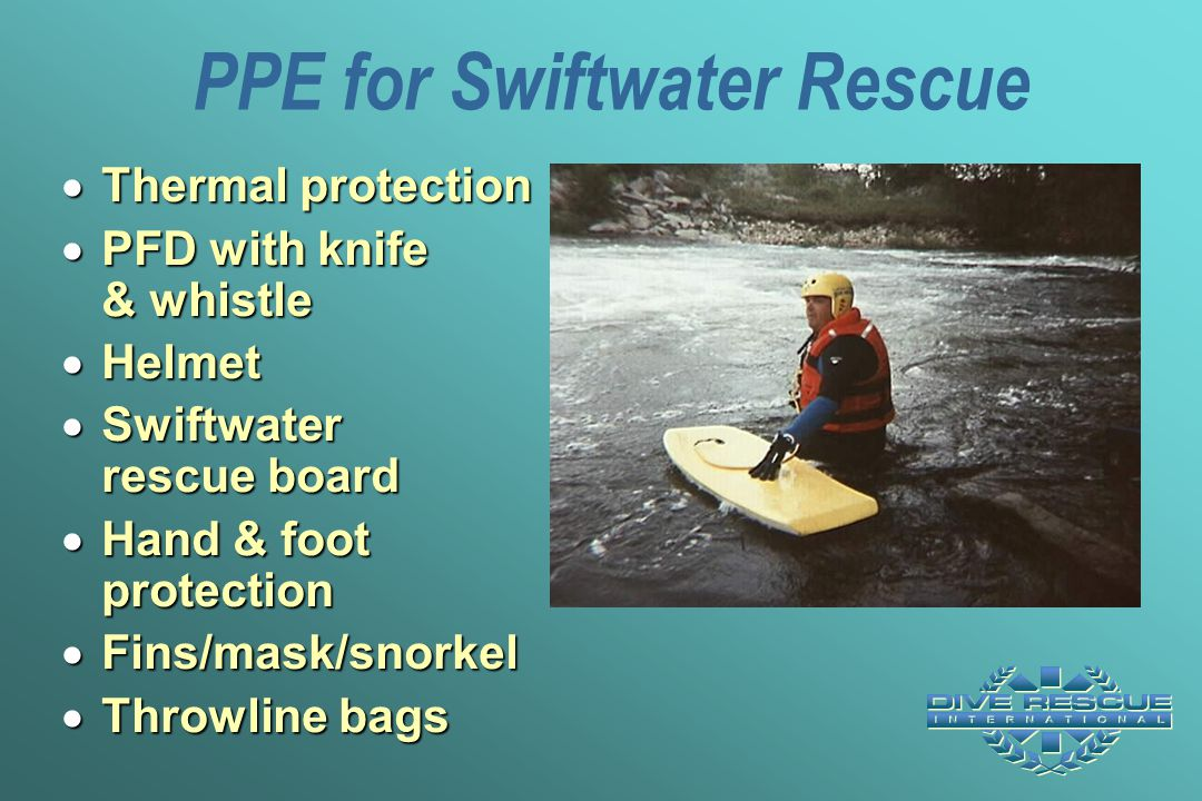PPE for Swiftwater Rescue