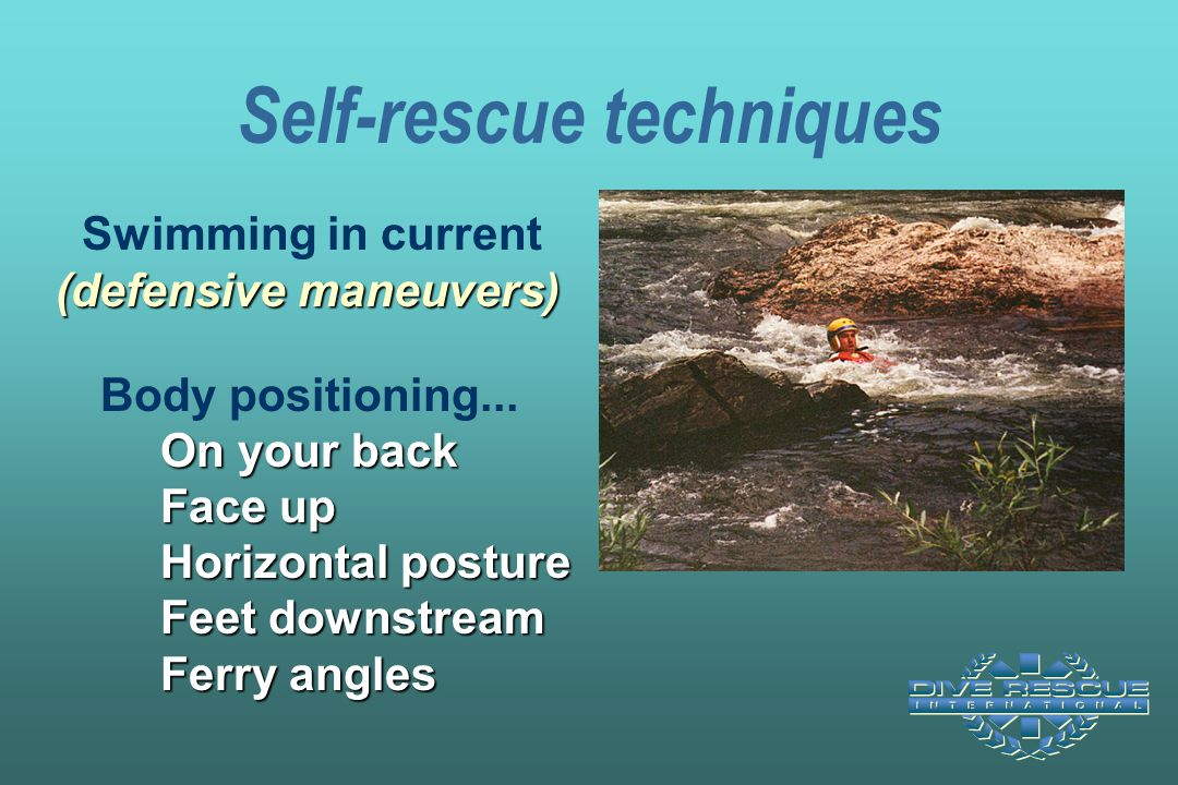 Self-rescue techniques