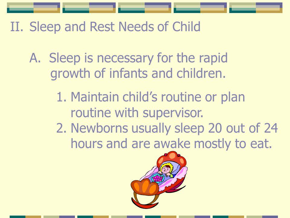 Sleep and Rest Needs of Child