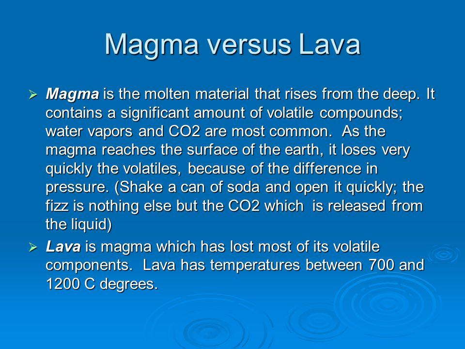 Magma versus Lava