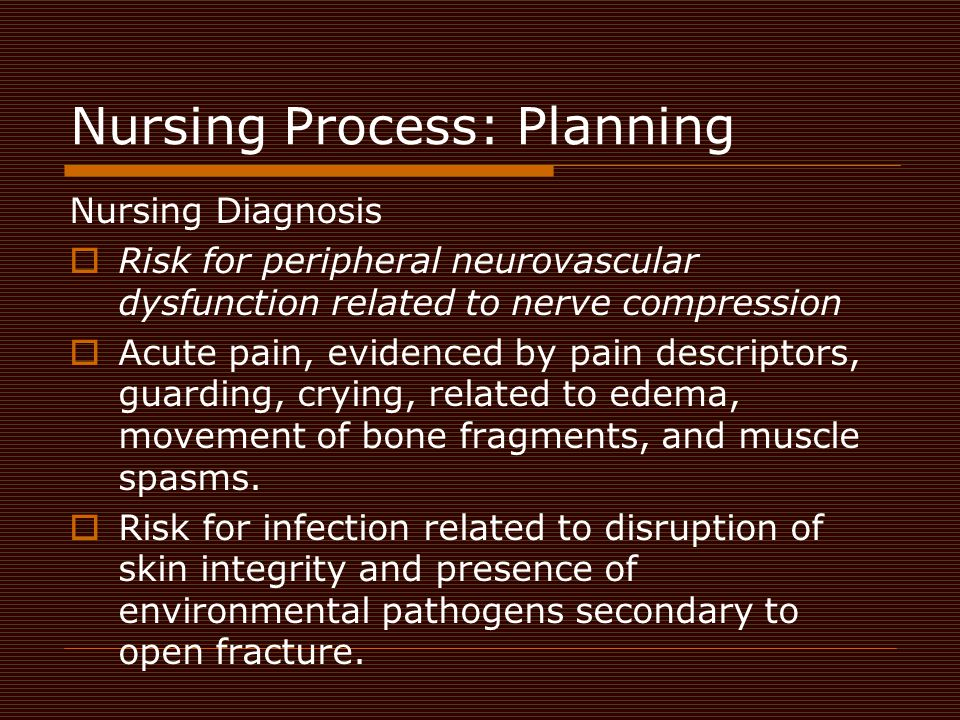 Nursing Process: Planning