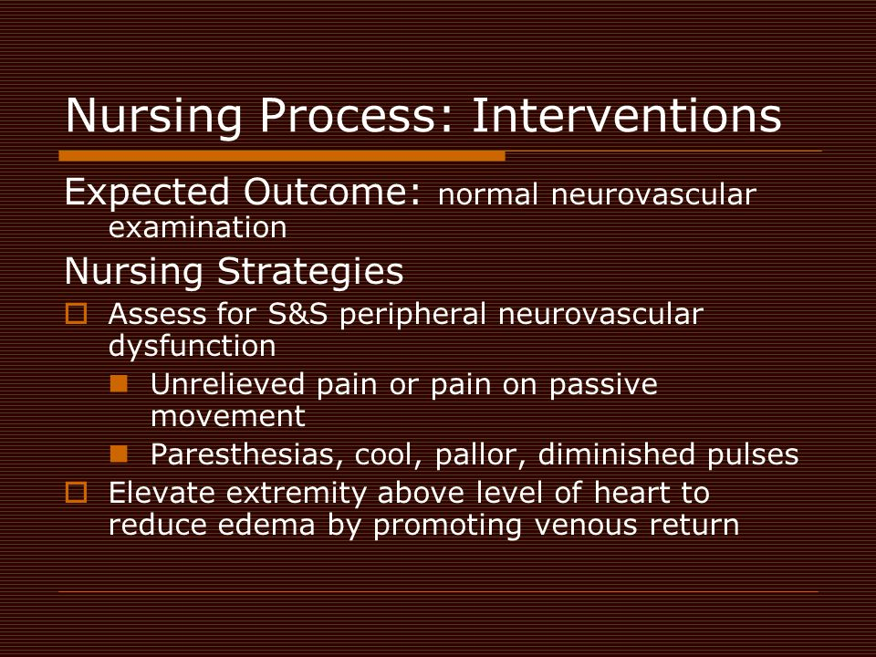 Nursing Process: Interventions