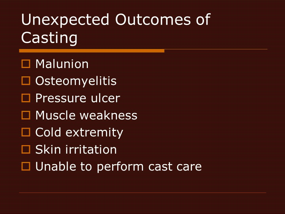 Unexpected Outcomes of Casting