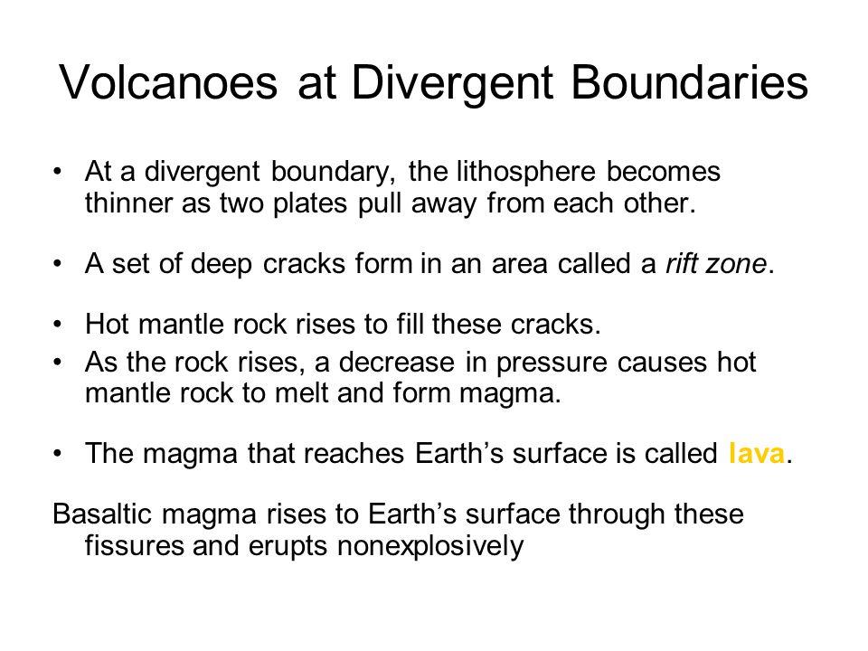 Volcanoes at Divergent Boundaries