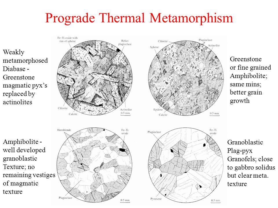 Prograde Thermal Metamorphism