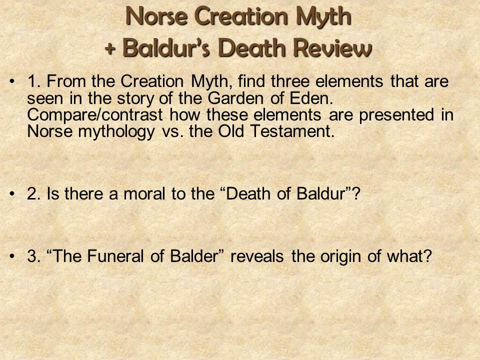 Norse Creation Myth + Baldur's Death Review