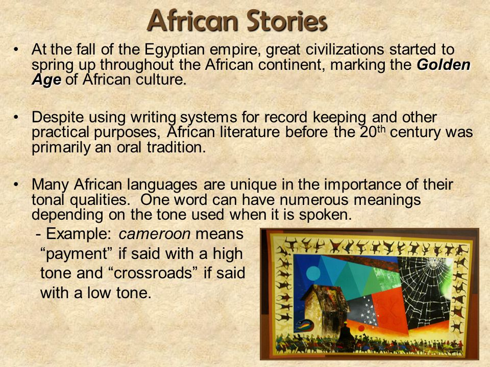 African Stories - Example: cameroon means