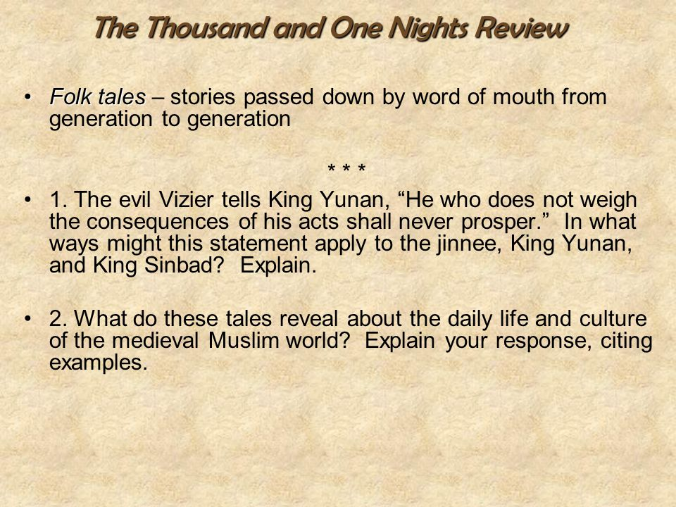 The Thousand and One Nights Review