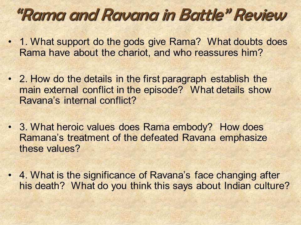 Rama and Ravana in Battle Review