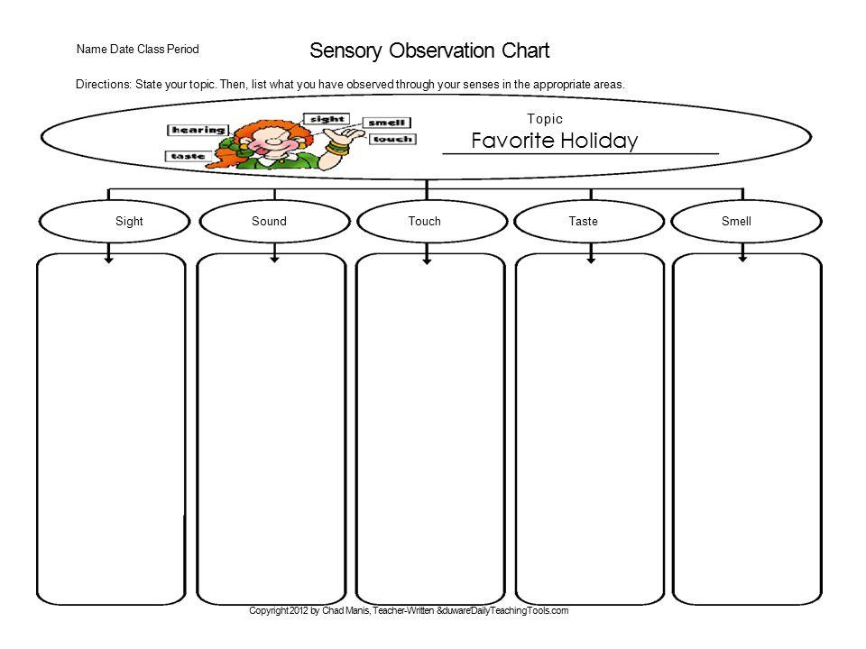 Sensory Observation Chart
