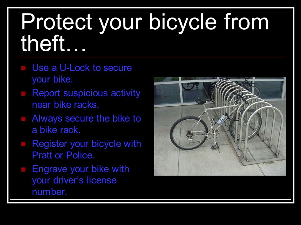 Protect your bicycle from theft…