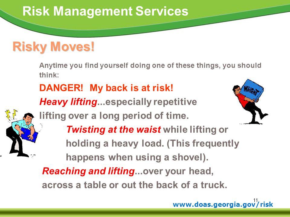 Risky Moves! DANGER! My back is at risk!
