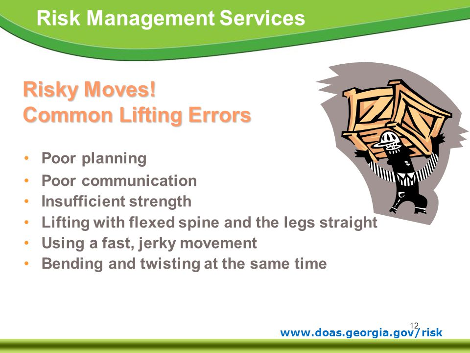 Risky Moves! Common Lifting Errors