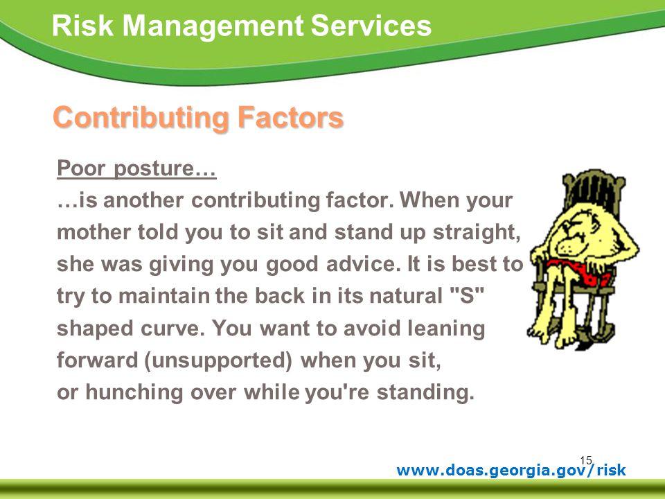 Contributing Factors Poor posture…
