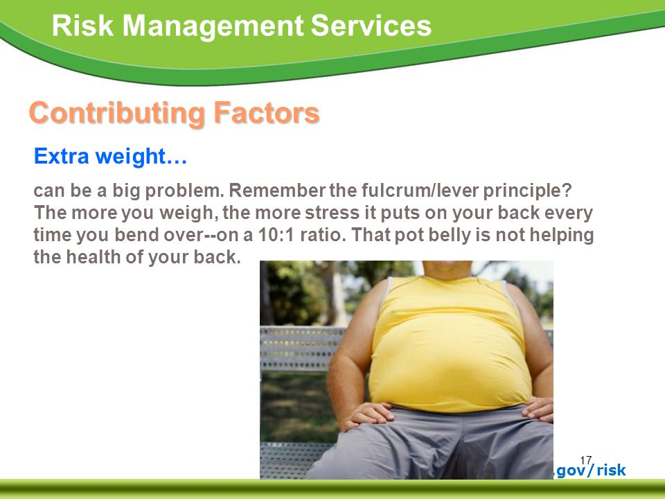 Contributing Factors Extra weight…