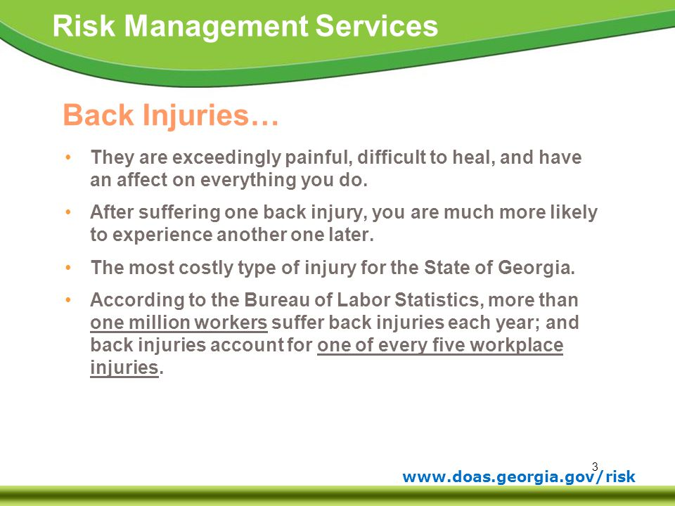 Back Injuries… They are exceedingly painful, difficult to heal, and have an affect on everything you do.