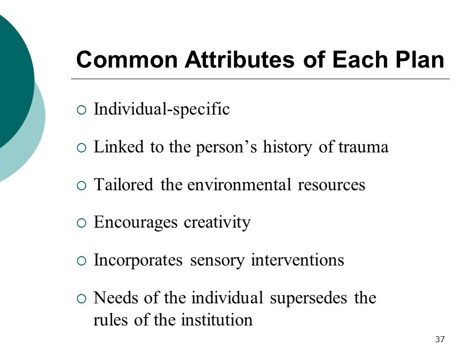 Common Attributes of Each Plan