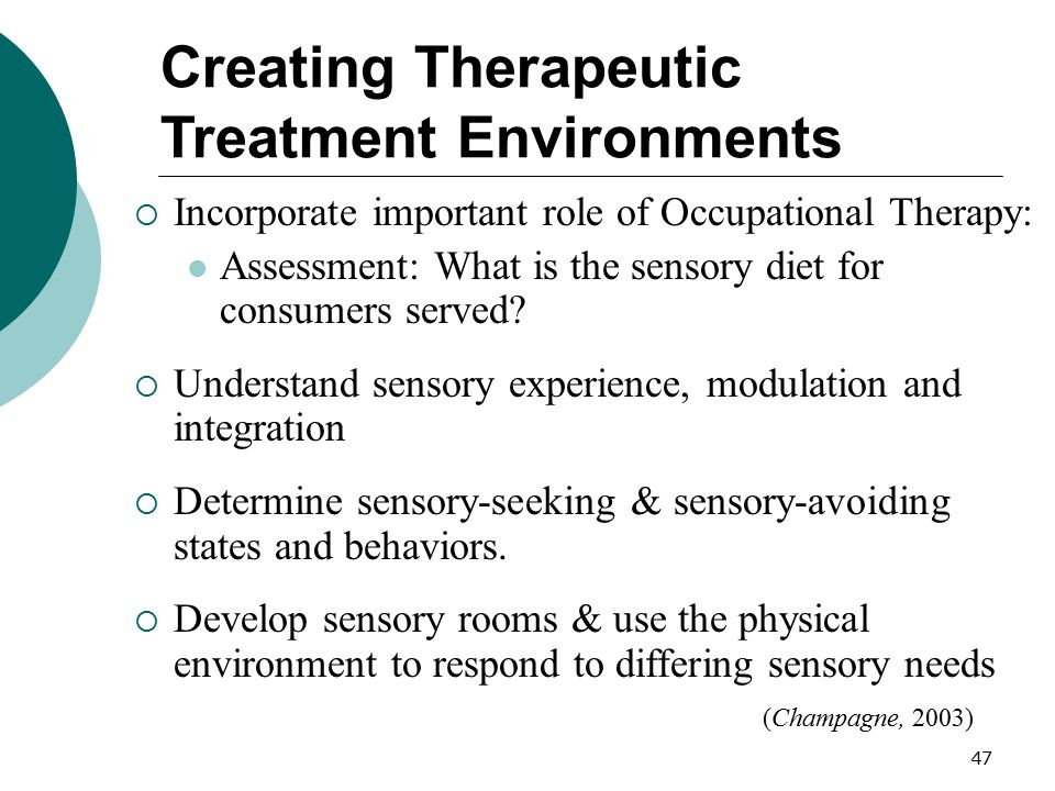 Creating Therapeutic Treatment Environments