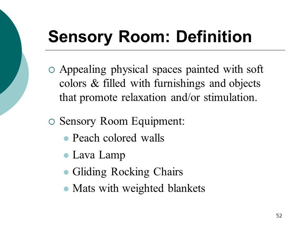 Sensory Room: Definition