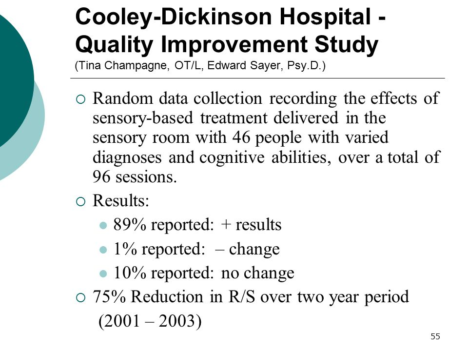 Cooley-Dickinson Hospital - Quality Improvement Study (Tina Champagne, OT/L, Edward Sayer, Psy.D.)