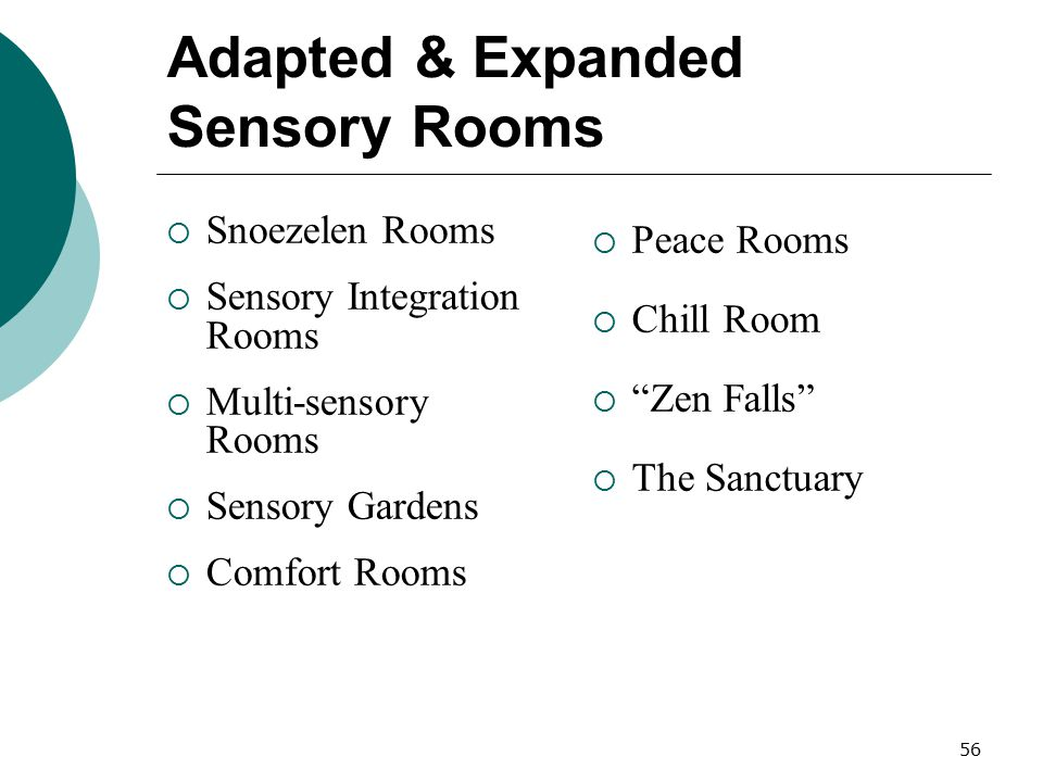 Adapted & Expanded Sensory Rooms