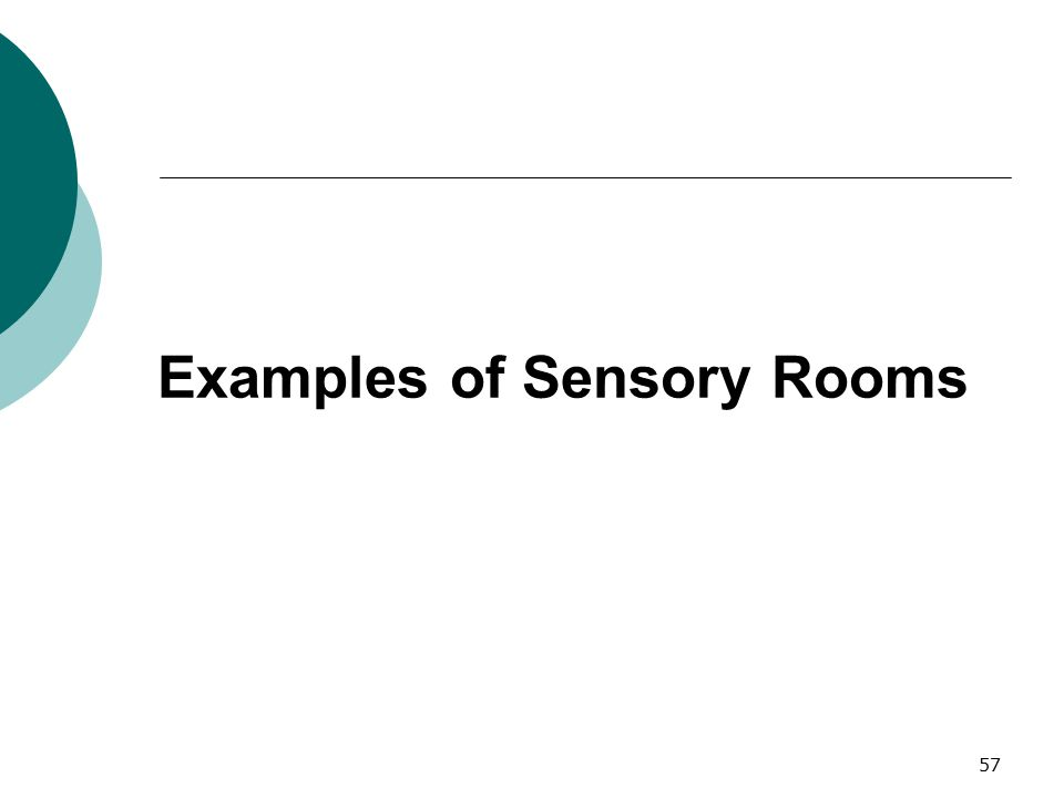 Examples of Sensory Rooms