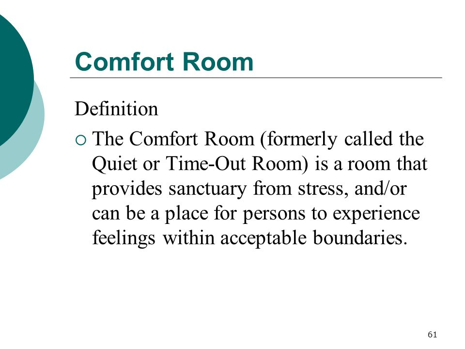 Comfort Room Definition
