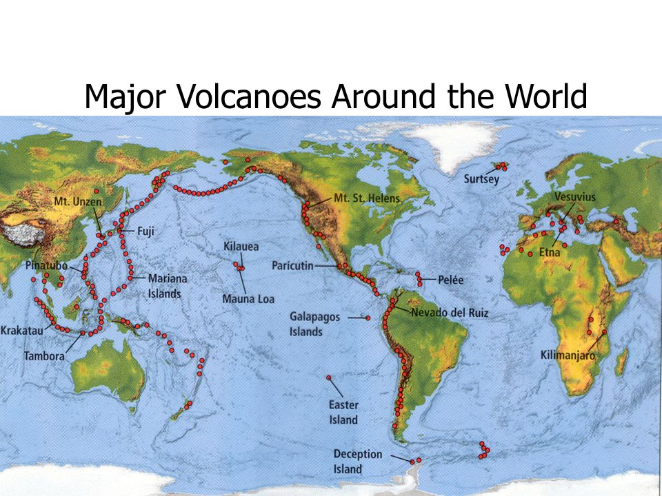Major Volcanoes Around the World