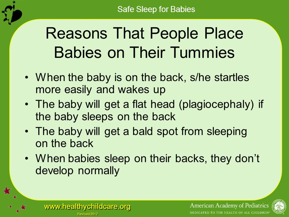 Reasons That People Place Babies on Their Tummies