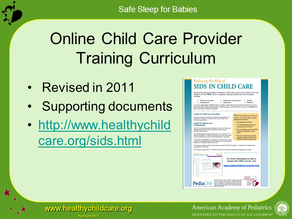 Online Child Care Provider Training Curriculum