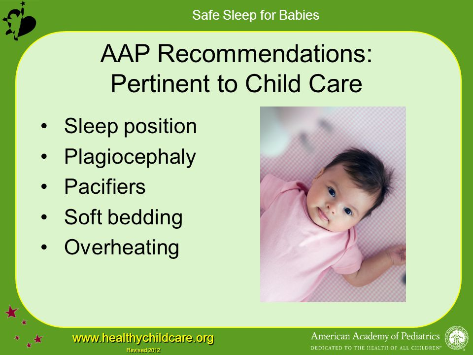 AAP Recommendations: Pertinent to Child Care