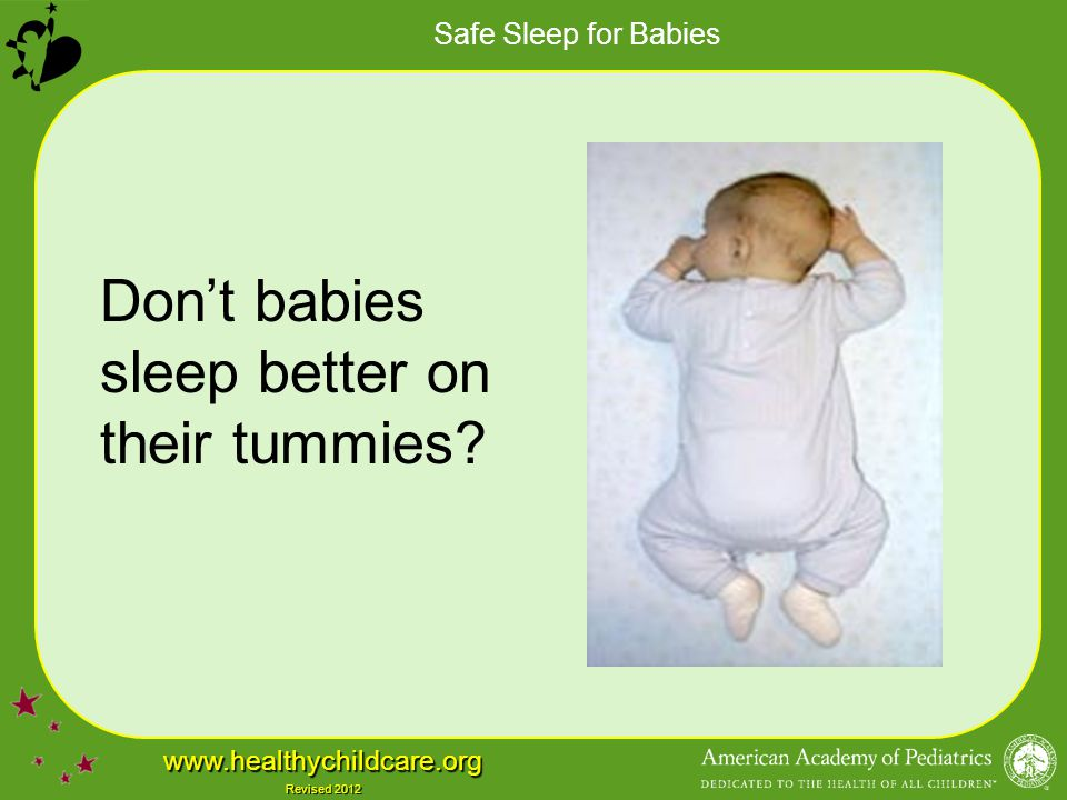 Don't babies sleep better on their tummies