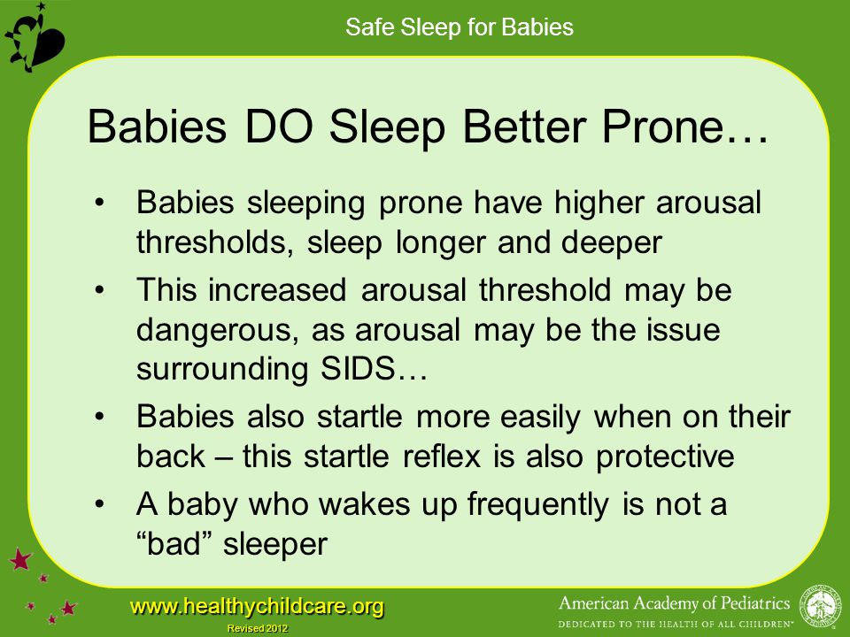 Babies DO Sleep Better Prone…