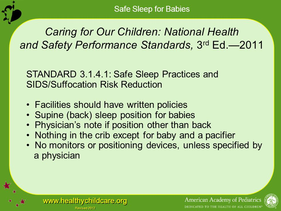 Caring for Our Children: National Health and Safety Performance Standards, 3rd Ed.—2011