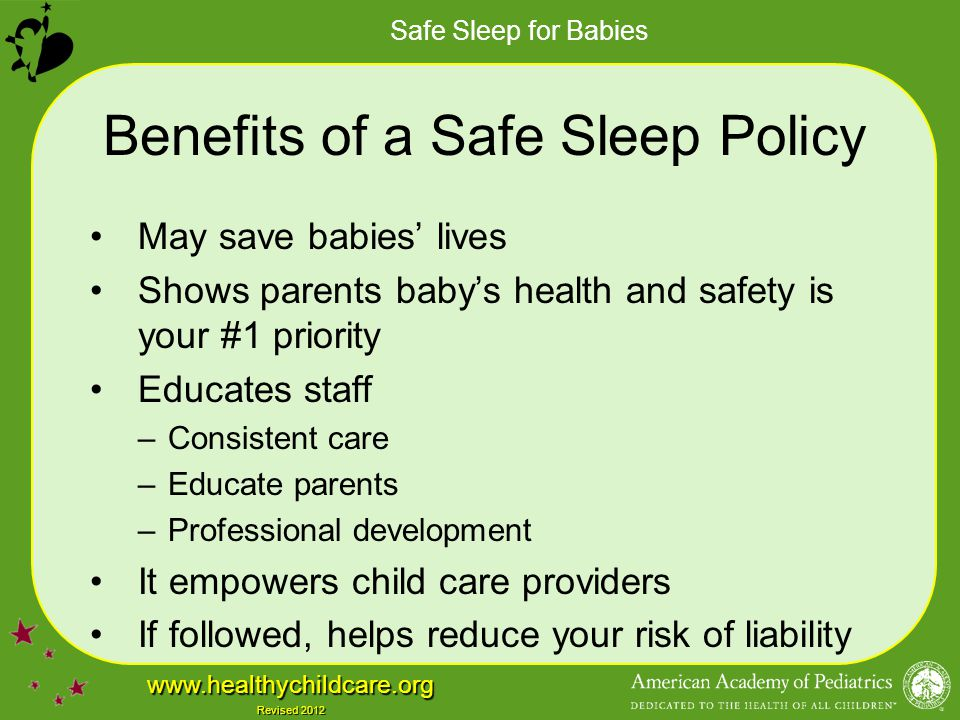 Benefits of a Safe Sleep Policy