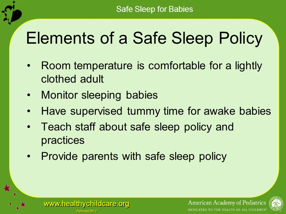 Elements of a Safe Sleep Policy